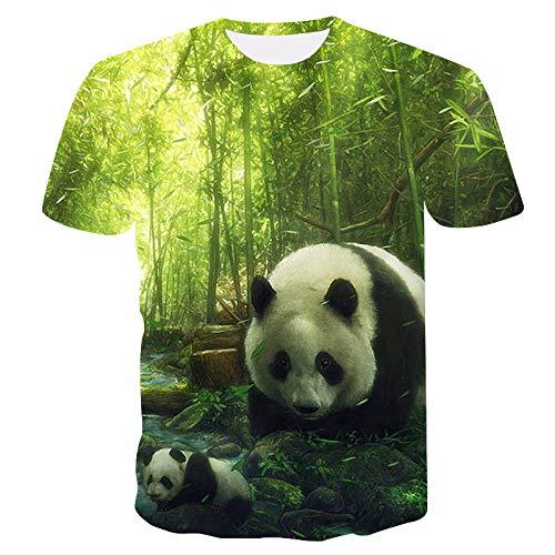 FANGDADAN 3D T-Shirt,Panda Madre E Hijo Impresos En 3D Arte Camiseta Manga Corta Manga Corta Casual Verano Tops Personalizada Hip Hop Plus Size Casual Streetwear tee Camisetas De Regalo,L