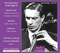 ベートーヴェン:チェロ・ソナタ第5番、ブラームス:チェロ・ソナタ第1番、ドビュッシー:チェロ・ソナタ、他 ヤニグロ(1958、62)