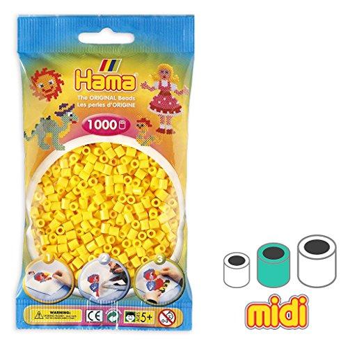 Hama Cuentas Beads Midi 5 mm Amarillo (n?03) x1000