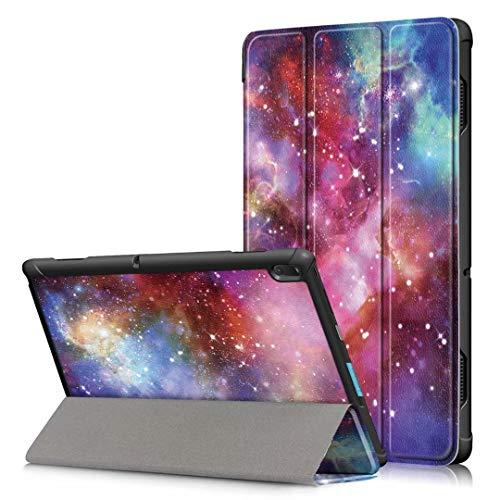 TEYOON Lenovo Tab E10 Case,Cover for Lenovo Tab E10 - PU Leather Tri-Fold Stand Cover Case for for Lenovo Tab E10 TB-X104F 10.1-Inch Tablet,Galaxy