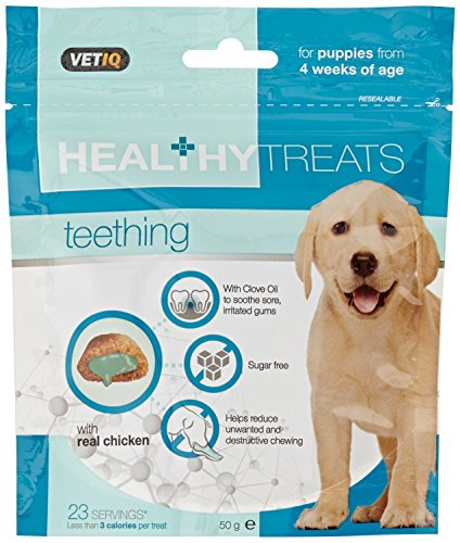 VetIQ Healthy Treats Teething Treats for Puppies 50g (Pack of 6)