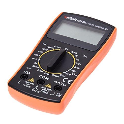 VC830L Multimètre électrique numérique professionnel portable AC DC Ohm Voltmètre Ohmmètre Ampèremètre
