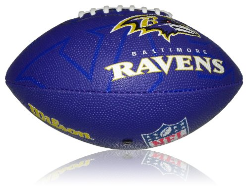 WILSON Football NFL Junior Baltimore Ravens Logo, Mehrfarbig, 5, WL0206804040