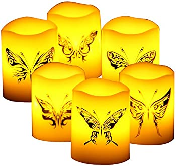 6-Pieces Candle Choice Real Wax Flameless Candles with Timer