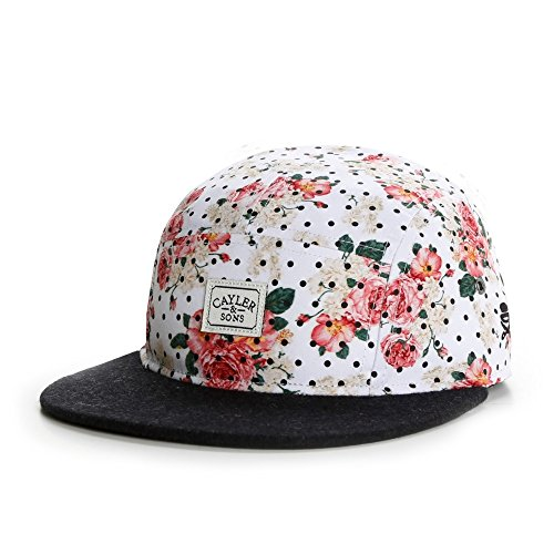 Cayler And Sons - Casquette 5 Panel Homme Paris Throwback 5 Panel Cap - Floral Leather/Black Wool
