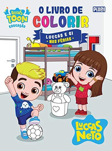 O livro de colorir Luccas e Gi nas férias