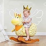 Ccgdgft Caballo de oscilación de Madera del bebé, Adecuado for niños Menores de 3 años de Edad, Niño Rocker/Silla balancín del bebé/niño de Madera Lostgaming