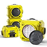 ALORAIR CleanShield HEPA 550 Industrial Commercial HEPA Air Scrubber for Damage Restoration, cETL Listed, GFCI Outlet, 10 Years Warranty, Yellow(Pack of 4)