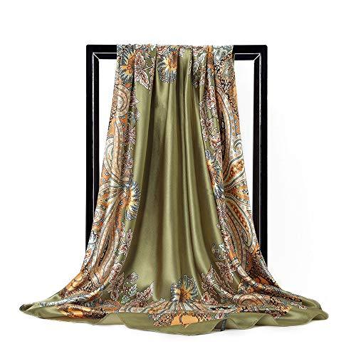 Damen Mysteriösen Maskenmuster Großen Quadratischen Schal, Mode Retro-Schal