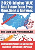 2020 Idaho VUE Real Estate Exam Prep Questions and Answers: Study Guide to Passing the Salesperson Real Estate License Exam Effortlessly