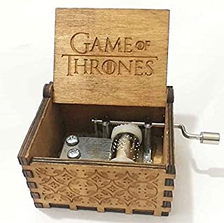 Music Boxes - Antique Carved Music Box Theme Game Thrones Harry Potter Star Wars Wooden Hand Crank - Italian Kids Lullaby World On Sherlock Love Greensleeves Granddaughter Disney