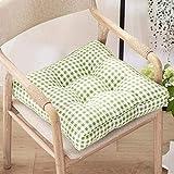 Cuscini per sedie Cuscini per sedili Set di 2 materassini fatti a mano in tessuto grezzo i...