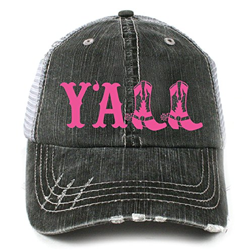 KATYDID Y'all Southern Country Women's Trucker Hat Cap Hot Pink