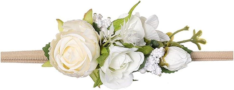 Baby Artificial Flower Selling rankings Headbands Elastic Credence Sweet Greenery Photogra
