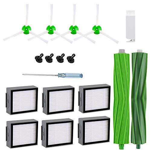 FHzytg 18 Stück Ersatzteile Filter Ersatzbürsten Zubehör für iRobot Roomba i7 i7+ e5 e6 e7 Staubsauger Roboter Zubehör