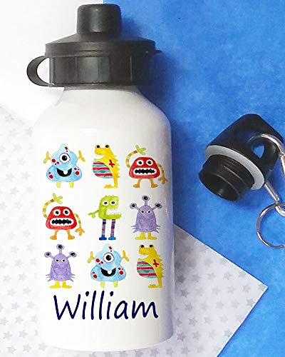 Alien Waterfles, Kids Drinkfles, Gepersonaliseerd, Waterfles, School Lunch Bag Flessen, herbruikbare fles, Aluminium fles, 400 ml fles