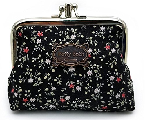 Cute Classic Floral Exquisite Buckle Coin Purse-Patty Both (08)