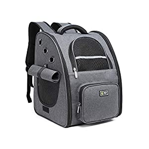 BELPRO Cat Backpack Carrier, Small Dog Backpack Carrier for Small Dogs Puppies with Ventilated Design, Airline Approved, Collapsible | for Travel, Hiking, Outdoor
