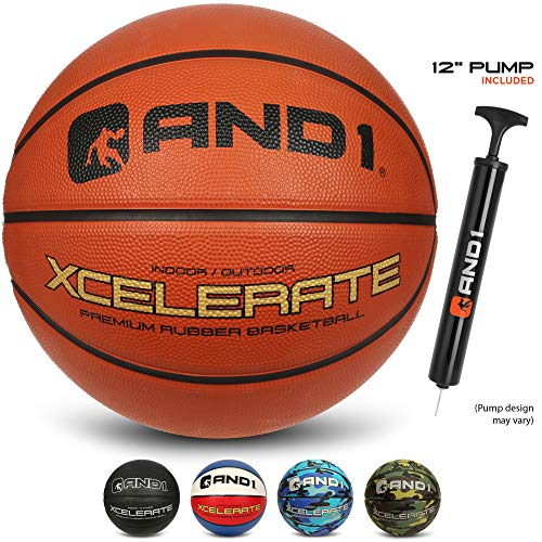 Find Bargain AND1 Xcelerate Rubber Basketball (Deflated w/Pump Included): Official Regulation Size 7...