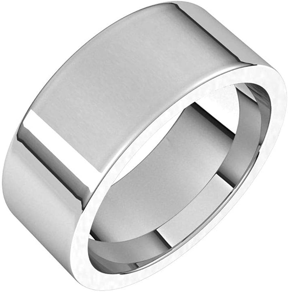Time sale Tarnish Max 45% OFF Resistant Solid 925 Sterling Comfort Fit Silver 8mm Flat