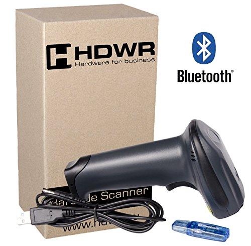 Draadloze bluetooth-codelezer, barcodescanner, laser-engine 1D, Windows, Linux, Android, vaste opslag, bluetooth-ontvanger inbegrepen of werkt met Bluetooth-apparaat, HD73