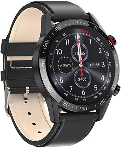 Smart Watch Business 1.3 Pantalla táctil Smartwatch Impermeable IP68 Fitness Tracker Monitor de Ritmo cardíaco Podómetro Cronómetro Pulsera para Hombres Mujeres Correa de Acero Plateado-Correa de