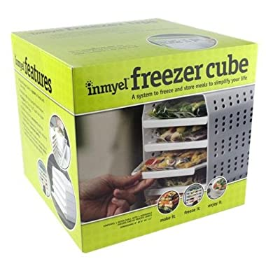 Inmyel Freezer Cube, A system to freeze and store homemade ready to heat-and-eat meals in zipper closure freezer bags.