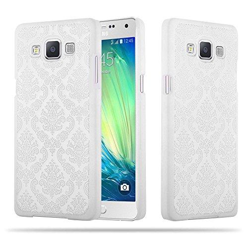 Cadorabo Samsung Galaxy A5 2015 Hardcase Hülle in WEIß Blumen Paisley Henna Design Schutzhülle – Handyhülle Bumper Back Hülle Cover