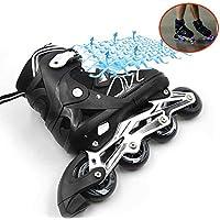 Patines en Línea para Adultos de una Hilera Zapatos Profesionales de Patinaje de Velocidad en Línea Fibra Carbono para Deportes al Aire Libre Fitness para Hombres Patines Ruedasblack-38 to 41