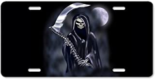 CafePress Grim Reaper (Nb12) Aluminum License Plate, Front License Plate, Vanity Tag