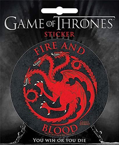 Ata-Boy Game of Thrones Targaryen Crest 4  Full Color Sticker
