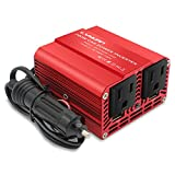 Cantonape 200W Power Inverter for Car DC 12V to 110V AC Car Inverter Converter with 3.1A Dual USB Charger Car Adapter