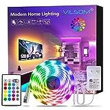 Led Strip Lights 16.4FT, ViLSOM RGB 5050 Led Light Strip Kit with Remote and 12V Power Supply Led Lights for Bedroom, Room, TV, Kitchen and Home Decoration Bias Lighting