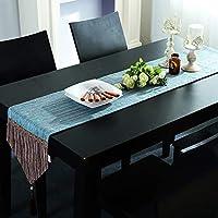 長方形のテーブルランナー 長方形のテーブルランナー手作りシンプル Tablerunnersテーブルリネンダイニング長方形のテーブルランナー青色の抽象厚く柔らかい高級手作りTablerunner芸術トップインテリア、2色 ホリデーギフト (Color : A, Size : 30*270cm)