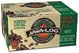 Pine Mountain Java Log (5 lb) Crackling Firelog, 3-Hour Burn, Pack of 6