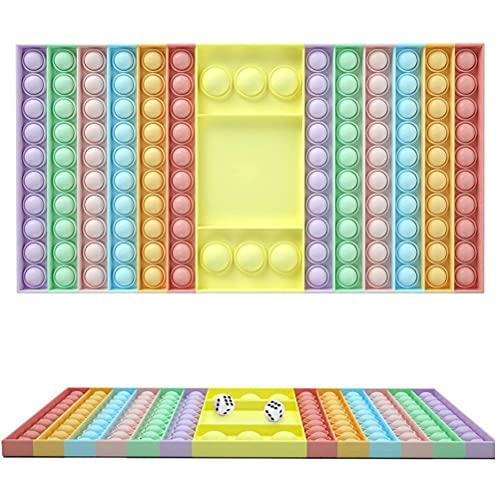 passer Fidget Toys, Lager Push Bubble Toy con Dadi Giocattolo sensoriale Strumenti Anti-ansia Autismo Esigenze Speciali Giocattolo Antistress per Bamb