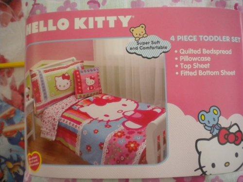 Hello Kitty Parure de lit pour enfant 4 pièces