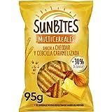 Sunbites, Snack Ondulados Multicereales con Sabor A Cheddar y Cebolla Caramelizada, 95g