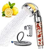 Shower Head Filter Vitamin C Ionic High Pressure Handheld Sprayer Showheads with Hose