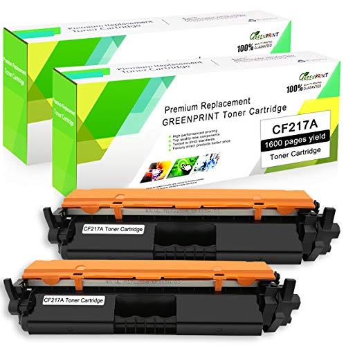 Kompatible Tonerkartusche CF217A (17A) 2 Schwarz mit Chip GREENPRINT 1600 Seiten für den Einsatz in HP Farblaserdrucker Laserjet Pro M102a M102w, Laserjet Pro MFP M130fn M130fw M130nw M130a