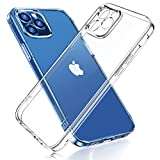 Joyroom Crystal Clear Designed for iPhone 12 Pro Max Case 6.7'', Unique Full Camera Lens Protection, Never-Yellowing Hard Back & Flexible Anti-Scratch Bumper, Crystal Clear