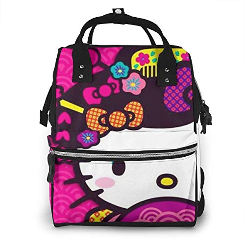 Diaper Bag Backpack - Hello Kitty with Fan Multifunction Waterproof Travel Backpack Maternity Nappy Changing Bags