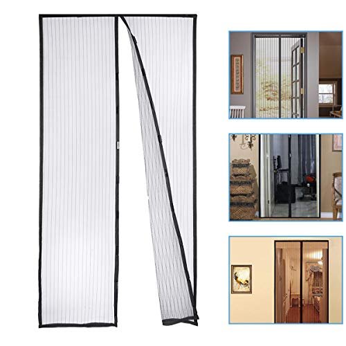 Housmile Mosquito Door Net Hands Free Magnetic Screen Door Anti Fly Bug, Insect Mesh Screen Fits Doors Up to 39 x 83 Inch