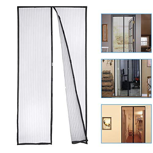 Housmile Mosquito Door Net Hands Free Magnetic Screen Door Anti Fly Bug, Insect Mesh Screen Fits Doors Up to 39 x 83 Inch