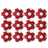 SUNREEK Lot DE 12 Mini balles de Football en Mousse Noir/Blanc
