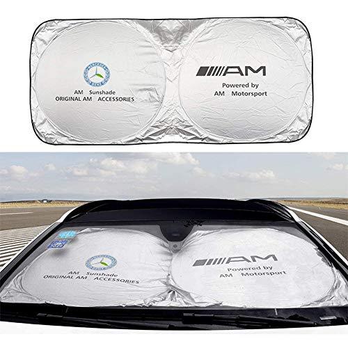 L&U Parabrisas del Coche Parasol, bloquea los Rayos UV, Plegable Parasol Protector de Mercedes B