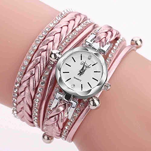 Chica reloj regalo de cumpleaños regalo del día de Reloj de pulsera Retro Pulsera Relojes Mujeres Encantador Boda Relojes de pulsera 6 colores Rhinestone Delicado Relojes Femeninos ( Color : D )