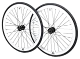 Retrospec Bicycles Mantra Fixed-Gear/Single-Speed Wheel Set with 700cm x 23C Kenda Kwest Tires and...