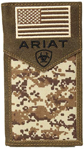 Ariat Unisex-Adult's Patriot Digital Camo Rodeo Wallet, brown