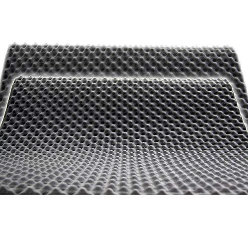 Akustikschaumstoff als Akustik Noppenschaumstoff - Platte 100x50x3cm (anth/schwarz) aus hochwertigem PUR-Schaumstoff